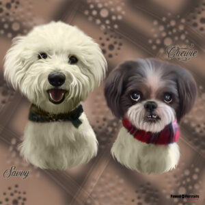 2 dogs creative painting